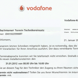 Brief Vodafone